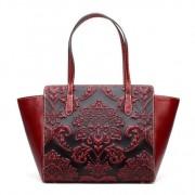 手提包女包新款 真皮包包歐美風范 壓花時尚包包女