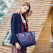 包包女秋冬歐美新款大容量單肩真皮女包托特包女士手提斜跨包