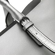 新款牛皮女休閒時尚包牛皮單肩手提斜跨大包購物袋