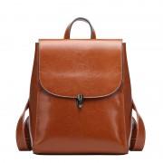 春夏新款牛皮女包雙肩包韓版時尚牛皮大容量旅行背包女士皮包