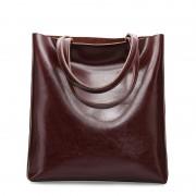 秋冬新款牛皮女包時尚女士包簡約托特包大容量時尚手提購物袋