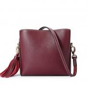 新款真皮女包包歐美時尚單肩包流行女純色小包簡便牛皮斜跨包