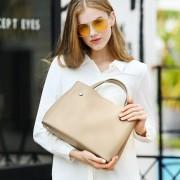 新款牛皮女包簡約大氣女士包歐美時尚單肩手提斜挎包包