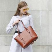 夏季真皮女包新款女包歐美範手提包真皮單肩包金色五斜挎女士包包