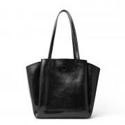 新款女包歐美時尚真皮托特包大容量包包單肩純色軟包