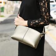 新款真皮女包牛皮歐美風時尚小方包女士單肩手提斜挎包迷你包