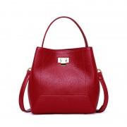 包包女新款真皮女包歐美時尚牛皮水桶包女士單肩大容量手提包
