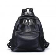 頭層牛皮雙肩背包新款韓版時尚旅行背包大容量簡約女包