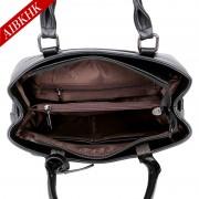 S9196新款真皮女包簡約手提包時尚中年媽媽包