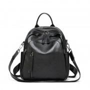 頭層牛皮雙肩包韓版時尚女包大容量旅行背包女潮多用包包