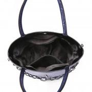 秋冬新款設計感金屬鏈條水桶包個性真皮手提單肩斜挎包潮