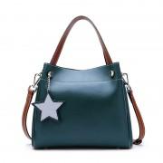 新款真皮女包歐美風水桶包牛皮手提單肩包斜挎大容量女士包包