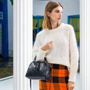 新款歐美時尚頭層牛皮真皮手提單肩斜挎休閒軟皮女包包