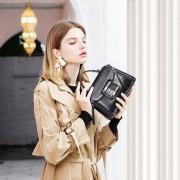女包新款廠家直銷真皮女士包時尚休閒油臘牛皮手提單肩斜挎背包