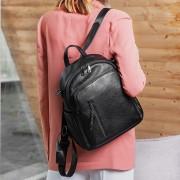夏季新款頭層牛皮雙肩包時尚清新旅行背包女韓版潮大容量多用女包
