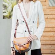新款女包包復古馬鞍包斜跨包真皮女包歐美時尚包牛皮女式手袋