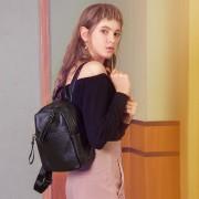 雙肩包女式新款真皮雙肩包休閒學院風頭層牛皮女士旅行背包