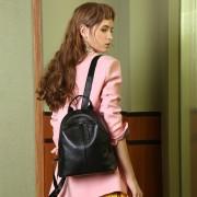 真皮雙肩包新款韓版百搭時尚頭層牛皮小背包軟皮女士包包
