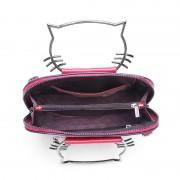 廠家批發新款真皮女包韓版簡約牛皮小猫包時尚百搭手提女士包