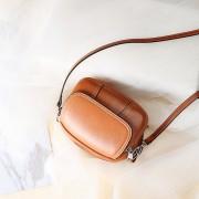 真皮小包包新款百搭迷你女包頭層牛皮小圓包單肩包斜挎包