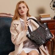 真皮女包新款歐美時尚手提托特包女士包字母百搭頭層牛皮斜挎大包