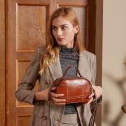 真皮包包女新款簡約時尚饅頭包大容量牛皮單肩斜挎女包