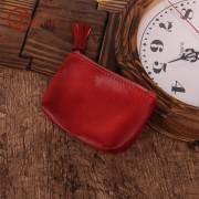 復古時尚真皮小錢包 植鞣皮可愛零錢包 多功能收納包 零錢包定制