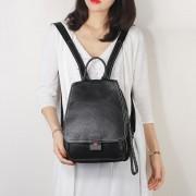 潮流雙肩包女真皮歐美時尚頭層牛皮大容量背包旅行女士包