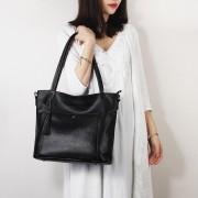 真皮女包時尚星星流蘇頭層牛皮單肩大包斜挎女士手提包包