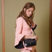 新款春季牛皮單肩斜挎女包時尚小方包女士包