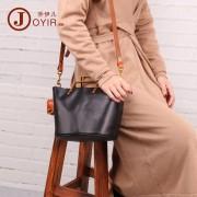 歐美時尚真皮女包植鞣皮復古時尚女士單肩包 頭層牛皮水桶包