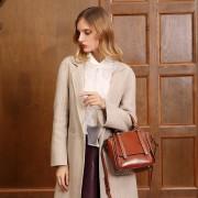 新款真皮女包歐美時尚風機車包牛皮單肩包手提斜挎女