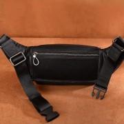 新款真皮腰包多功能胸包頭層牛皮大容量手機拉鏈休閑斜挎男包