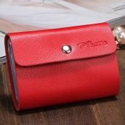 新款可愛淑女女士韓版銀行卡包 牛皮真皮卡包