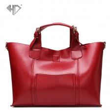 新款女包歐美簡約大氣單肩子母包真皮手提包