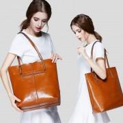 新品時尚歐美真皮女包牛皮包包單肩包進口外貿女包大包批發
