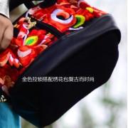 廠家女包包斜挎單肩包手提包民族風迷你雙面刺繡貝殼包