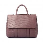 新款翻蓋包時尚鱷魚紋手提包真皮女包單肩斜跨包頭層牛皮大包