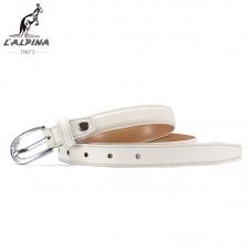 意大利袋鼠 女款真皮皮帶時尚針扣白色裝飾多色百搭牛皮褲帶批發