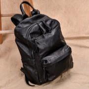 新款雙肩包真皮大容量女包休閑女式拉鏈旅行包男羊皮背包實用