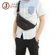 韓版時尚真皮男包 戶外運動斜挎胸包 多功能復古男士胸包 腰包