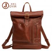 亞馬遜新款真皮男包 時尚休閑牛皮雙肩背包 大容量復古行李包