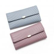 新款日韓時尚女士錢包 大容量真皮拉鏈兩折長款手拿包皮夾女