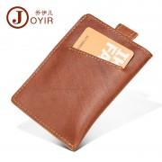 防RFID盜刷真皮卡包 亞馬遜熱賣商務時尚卡套卡夾 牛皮證件包批發