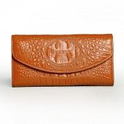 女士錢包長款三折真皮錢包大容量皮夾休閑手拿包女牛皮錢袋