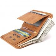 意大利LALPINA袋鼠男士休閑時尚錢包油蠟真皮大容量卡包661052131
