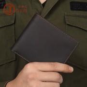 歐美復古瘋馬皮男士錢包 簡單短款橫版真皮錢夾 牛皮休閑錢包批發