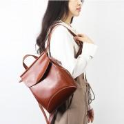 廠家直銷新款油蠟牛皮雙肩背包韓版時尚旅行包大容量簡約真皮女包