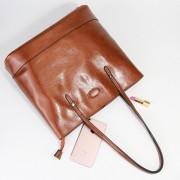 新款真皮簡約大容量油蠟牛皮女包購物袋單肩手提包大包包