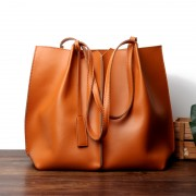 女包休閑大容量牛皮包手提單肩女士包包